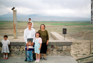 Armen was photographed with his family a day before entering the army. Ten months later he disappeared.