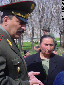 At a ceremony honoring soldiers today (April 11), Seda spoke with General Michael Grigoryan.