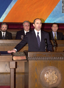 """To Faithfully Follow . . ."": Robert Kocharyan begins second term"