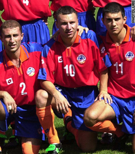 Muradyan (center) left for the Netherlands.