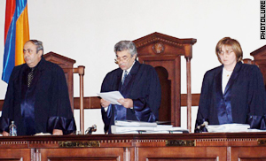 The Court denied Demirchyan, challenged Kocharyan to a  referendum.