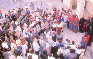 Armenians in Iraq gathered for the opening of a new church in Baghdad last April.