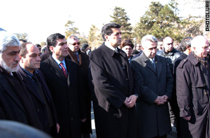 The man who wants to be President went to a monument to pay homage to Sumgait victims . . .